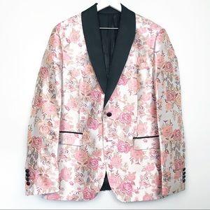 Zara Men Jacquard Tuxedo Blazer Sport Jacket